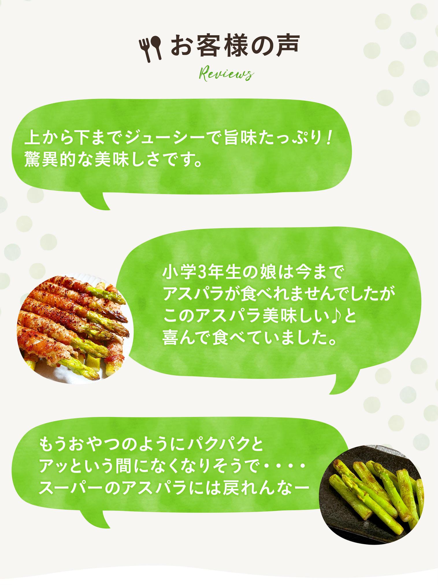 旅するような産直アウルでCMで山田杏奈演じるアウルさんが食べているおおもりやの朝採れ新鮮アスパラガスを産地直送でお取り寄せ