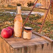 希少種『旭りんごのシードル2020』『旭りんごのコンフィチュール』と郷愁の甘酸っぱい旭りんごのセット 330mL(シードル)150g(コンフィチュール) 果物や野菜などのお取り寄せ宅配食材通販産地直送アウル
