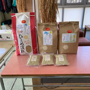 ひとめぼれ玄米5kg/こまちとひとめ精米3kg食べ比べセット/そばむき実3個セット 12kg 秋田県 通販