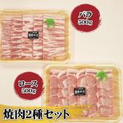 妻有ポーク焼肉2種セット 500g×2 肉(豚肉) 通販