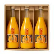「夏ギフト」紀六柑(かんきつ中間母本農6号)無添加ストレート果汁100%(720ml)3本 720ml×3本 飲料 通販