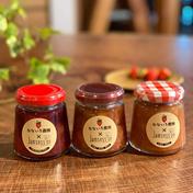 いちごのジャム3種セット(いちごとすぐりとミントのジャム、いちごとブルーベリーのジャム、いちごとりんごのジャム) 130㌘×3個 なないろ農園