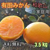 有田みかん🍊ご家庭用 3.5 kg   2S〜2Lサイズ混合 北海道・沖縄への配送ができません。ご了承ください。 3.5 kg(箱込) 果物や野菜などのお取り寄せ宅配食材通販産地直送アウル