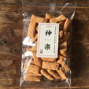 kumanoはしもと屋 無農薬 玄米揚げ餅(おかき) 100g 「神楽 かぐら」 100g