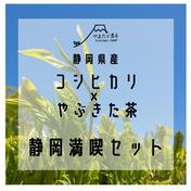 【静岡満喫セット】コシヒカリ5kgとやぶきた茶200g 米5キロ、茶200g 米(米) 通販