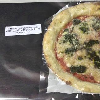 魚沼おぼろ豆腐大葉ジェノベーゼマルゲリータ4枚セット 直径約23cm×4枚 飲食店/お取り寄せ通販