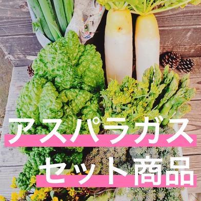 野菜セット アスパラつき 10kg以内 はゆっちFarm