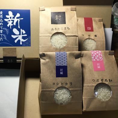 新米4種 二合パックセット 食べ比べ 1.2 秋田県 通販
