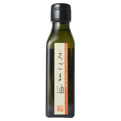 自家農園産自然栽培原料・低温圧搾生搾りえごま油 110g 調味料(油) 通販