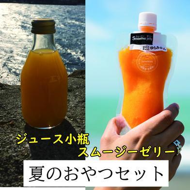 柑橘農家お届け「夏のおやつセット」 ジュース180ml×3、ゼリー150g×2 飲料(セット・詰め合わせ) 通販
