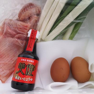 カスベのスキヤキセット カスベ600g 軟白ネギ3本 卵4個 魚介類(セット・詰め合わせ) 通販