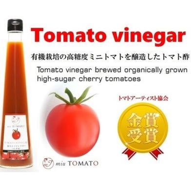 【トマト酢3本セット】【飯田農園】miuトマトビネガー 300ml×3本 300ml×3本 愛知県 通販