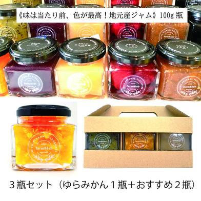 和歌山産ジャム3種セット(ゆらみかん+おすすめ2種) 瓶(100g)×3瓶 キーワード: いちご 通販