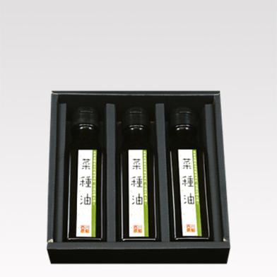 自家農園産自然栽培原料・低温圧搾生搾り菜種油3本詰 110g*3本 調味料 通販