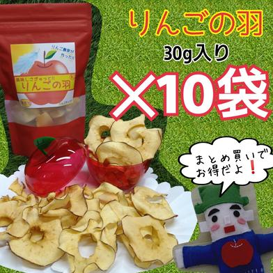 りんごの羽*10袋(無添加りんごチップス) 30g入*10袋 果物 通販