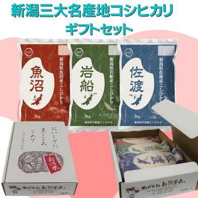 【ギフトセット】 新潟産大名産地コシヒカリ 3kg×3 3kg×3 新潟県 通販