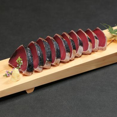 炭火焼一本釣りかつおたたき(OFR-43) 冷凍かつおたたき半切り2本(約500g) 特製タレ付 静岡県 通販