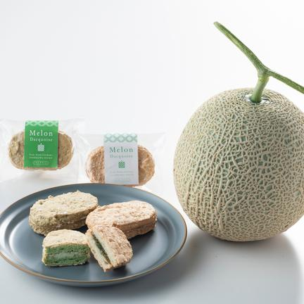 mama's farm 吉川農園 【送料込】お試し用!珍しいメロンジャムで作ったメロン・ダックワーズ4個/簡易包装クリックポスト メロン・ダックワーズ30g×4個(メロンジャム味2個、メロンクリーム味2個)