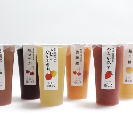 こんにゃく工房迦しょう やわらかくてたのしい、果実と湧水と蒟蒻の完熟ジェリー5種セット(ケース入、本州限定) 120g×5