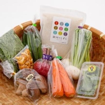 岩手県雫石町産 季節の野菜とお米のセット 米(1kg)季節の野菜(5〜8点) 果物や野菜などのお取り寄せ宅配食材通販産地直送アウル