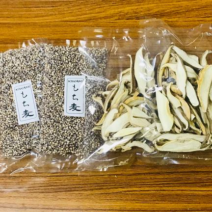 Itoshimasoil 乾燥椎茸スライスともち麦のセット もち麦200g×2P 乾燥椎茸30g×2P(スライス)