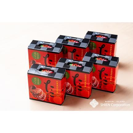 利尻島〜SHIEN〜【株式会社思縁】 利尻たこ醤油煮 タコ缶詰【6缶セット】 1缶110g×6缶