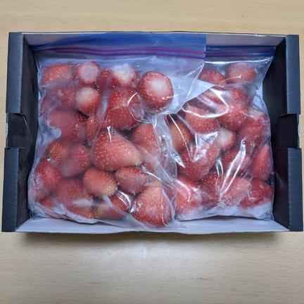 ぶらっく農園 日時指定可※冷凍いちごちゃん※ 群馬県産『やよいひめ』 500g×2袋 500g×2袋