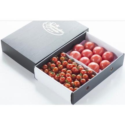 畑の宝石 ⑥ソムリエトマト 1.3kgとソムリエミニトマト プラチナ1kgのセット トマト1.3kg プラチナ1kg