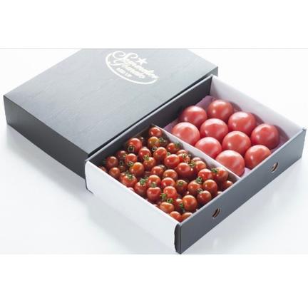 畑の宝石 ⑦ソムリエトマト 1.3kgとソムリエミニトマト ダイヤ1kgのセット トマト1.3kg ダイヤ1kg