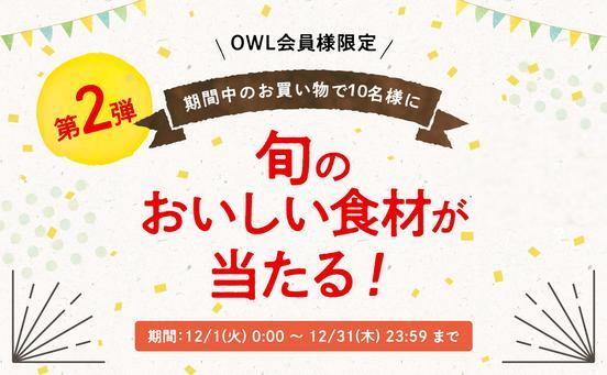 【期間終了】OWL1周年記念スペシャルキャンペーン